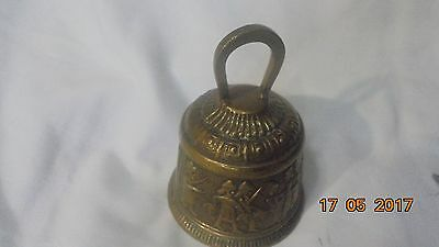 Brass Bell with Greek figures 90mm overall