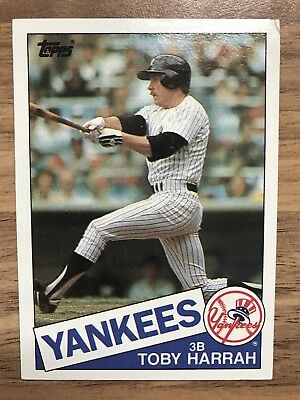 Carte Baseball MLB 1985 Topps #94 Toby Harrah - New York Yankees