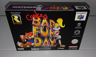Conker Bar Fur Day (N64) (Caja + Interior) (Only Box)