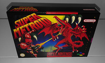 Super Metroid (Snes) (Caja + Interior) (Only Box)
