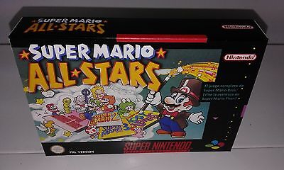 Super Mario All Star (Español) (Snes) (Caja + Interior) (Only Box)