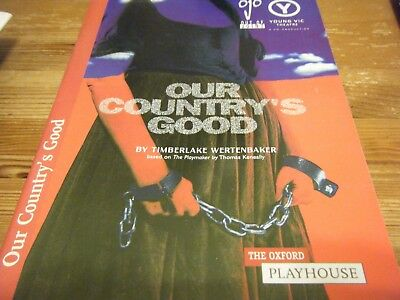 1998  Theatre  Programme  -  Our  Countries  Good -  At The Oxford  Playhouse