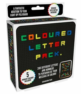 Spare COLOUR LETTERS PACK for LIGHT UP Retro PEG BOARD 200 Extra Symbols