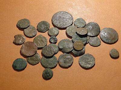 Job lot of Roman Bronze Coins of mixed condition for Research and Identification