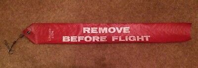 Genuine used Remove Before Flight tag from an American A-10 Tank Buster