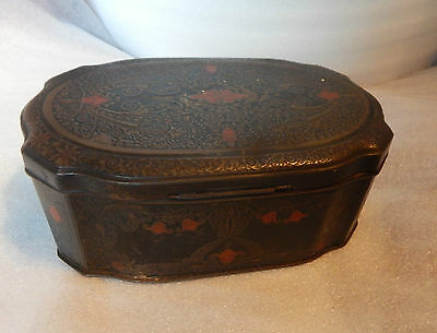 Victorian Biscuit Tin Barr and ross The Sunshine Biscuit Bakery Glasgow 21x13cm