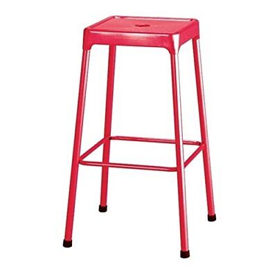 Safco SAF6606RD Bar-height Steel Stool, Red