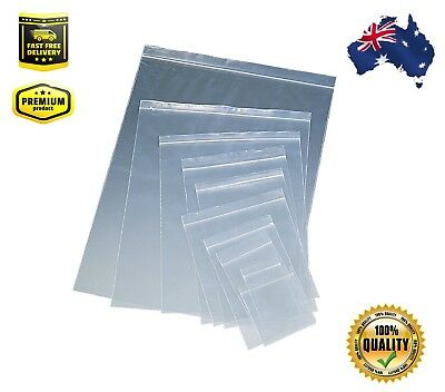 Resealable Zip Lock Clear Plastic Bags Many Sizes + FAST & FREE SHIPPING