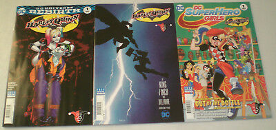 DC Harley Quinn Batman Day 2017 Special Complete Set LOT of 3