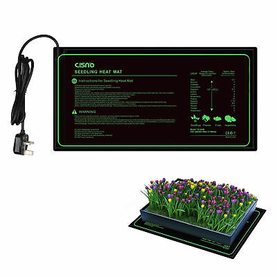 Seedling Heat Mat Hydroponic Seed Reptile Plant Heating Pad with Power-Of NEW