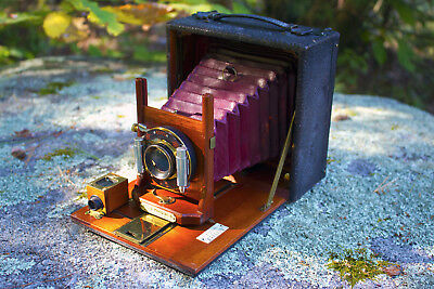 """Works! Beautiful Rochester Optical Company Cycle Poco No. 5 4""""x5"""" Plate Camera"""