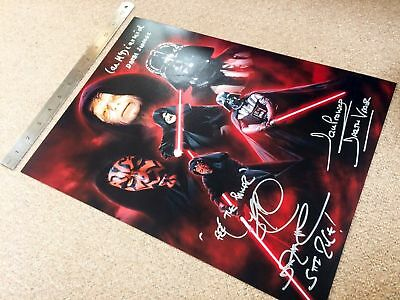 """Star Wars 16 X 12  """"sith"""" Montage Signed Prowse Mcdairmid Park *exact Proof*"""