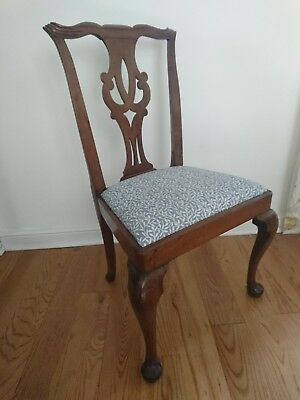 Antique Georgian Chippendale Style Splat Back Mahogany Chair Country House