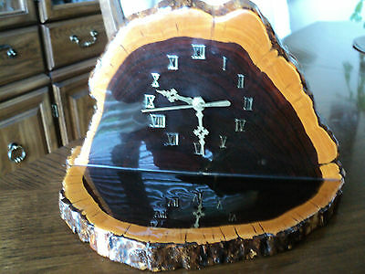 VINTAGE MANTEL CLOCK MADE of DESERT IRONWOOD WOOD