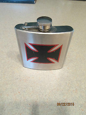 Vintage  Hip Flask Stainless 6 Oz