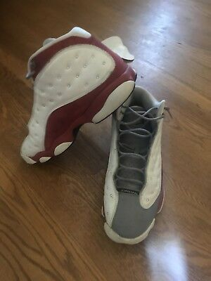 c006504ec0fa78 NIKE AIR JORDAN XIII 13 Retro White Black-Red-Cement Grey Toe 414571 ...