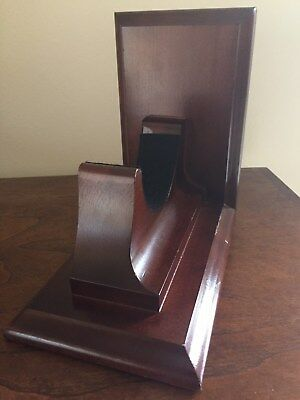 Chelsea Clock Co. -  Last Mahogany Bookend Base for 4.5 Inch Clock/Barometer