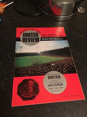 1967 Charity Shield  Man Utd V Spurs