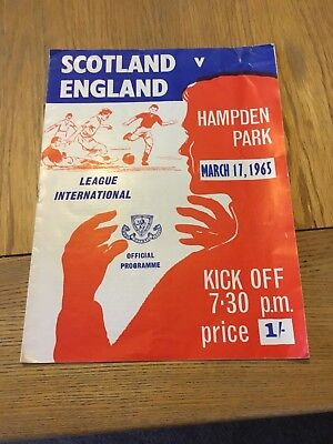 Scotland V England March 17 1965