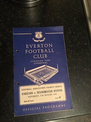 Man Utd V Everton 1963 Charity Shield Programme