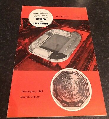 Man Utd V Liverpool 1965 Charity Shield Programme