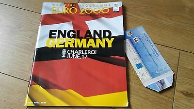 England V Germany Euro 2000 With Match Ticket
