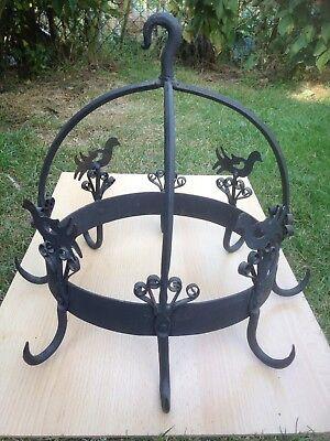 Antique French Wrought Iron Butchers Poultry / Game Hooks Kitchen, Restaurant ?
