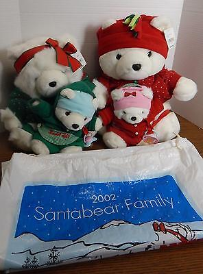 2002 DHMF Target Mr. & Mrs. Santa Bear & Babies Baby Twins Berry & Belle Family