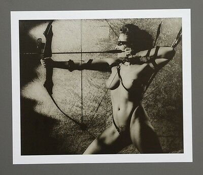 Günter Blum Akt mit Bogen Kunstdruck Photo Art Print 33x28 Nude Female Body B&W