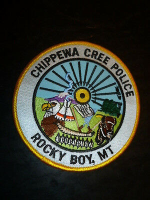 Chippewa Cree Police Patch Rocky, MT Montana Free Careful Quick Shipping
