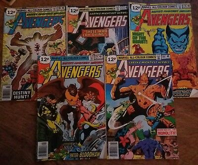 Marvel The Avengers # 176, 177, 178, 179 and 180