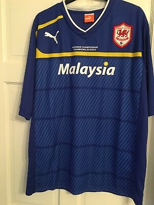 Cardiff City Football Shirt. Championship 2012/2013. New With Tags. Size Xl