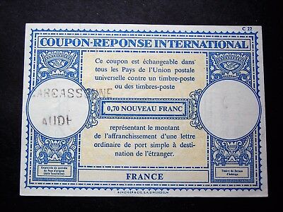 Superbe COUPON Réponse INTERNATIONAL  de CARCASSONNE