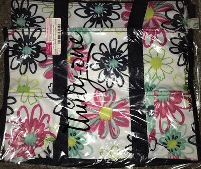 Thirty One Zip Top Organizing Utility Tote in Loopsy Daisy new!  31