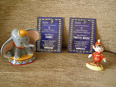 Royal Doulton Dumbo & Timothy Mouse pairing