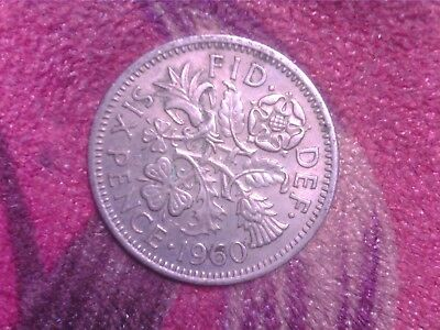 Great   Britain    Sixpence  1960