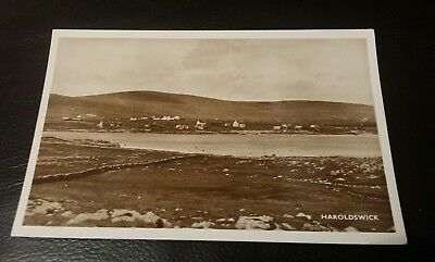 Vintage Postcard - Haroldswick - E. Sinclair, Larwick - Real Pucture