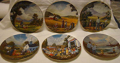 America the Beautiful 6 plate collection