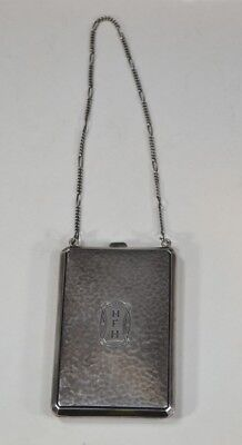 purse handbag  sterling silver chatelaine  Victorian Edwardian antique 1900