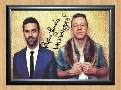 Macklemore Ryan Lewis Signed Autographed A4 Photo Poster Music Memorabilia cd