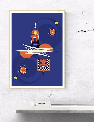 The Pet Shop Boys Poster. An Upside Down Illustrated Art Print.