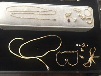 14k gold Jewelry some scrap Lot  13.7 grams 14kt L@@K!!