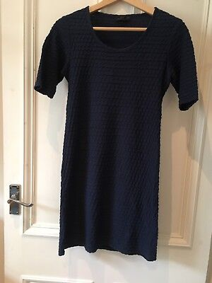 Topshop Navy Maternity Tunic Dress Size 8