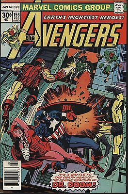 Avengers #156 Versus Doctor Doom! Very Nice 9.0 Glossy Cover White Pages!