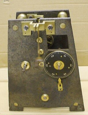Small Fusee Iron & Brass Turret Clock With Pendulum