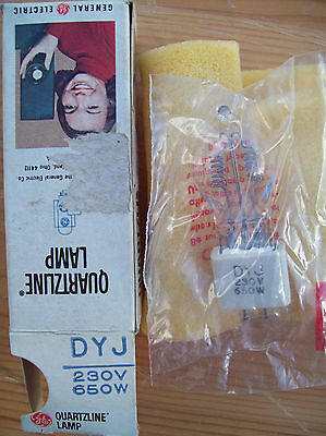 General Electric Dyj 230V 650W Projection Lamp/bulb. New (Old Stock)