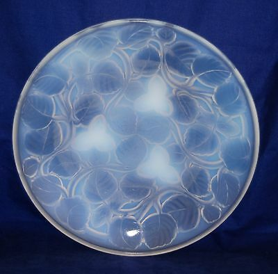 Art Deco ARRERS / ARVERS French Opalescent Shallow Bowl - Hazelnuts 24cm
