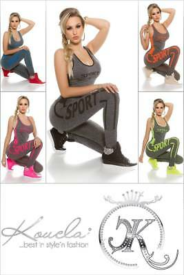 SeXy Fitness-Outfit mit Trägertop + Leggings Jogging Workout Sport Training