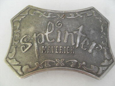 Splinter Maverick Large Metal Belt Buckle size approx 4 x 2 1/2 inches