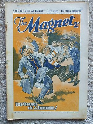 """The Magnet (Billy Bunter) - """"The Boy With An Enemy""""  Single Issue 1936"""